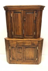 Primitive Corner Cupboard by R. Potter