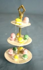 French Macarons on 3-Tier Dessert Dish