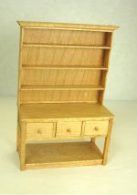 Half Inch Scale Open Hutch, Maple