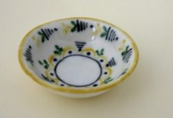 Yellow, Green and Blue Pottery Bowl