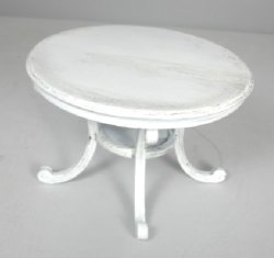 Antiqued French White Dining or Occasional Table