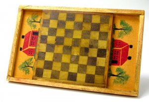 Decorative Chackerboard, Yellow