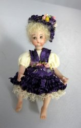 Toddler Doll in Purple