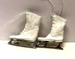 Leather Ice Skates, White