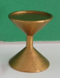 Half Inch Scale Gold Hourglass Side Table