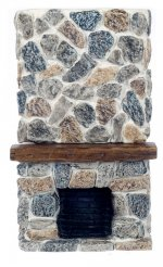 Ceiling Stone Fireplace