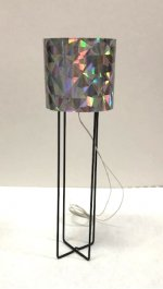 """Astra"" Floor Lamp with Silver Shade"
