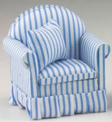 Blue & White Striped Chair