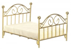 Double Brass Bed with Mattress