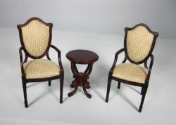 Madison Shield-Back Chairs with Lyre Table