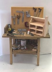 Workbench with Dollhouse in Progress