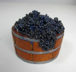 Barrel of Purple Grapes by Ysinia Slater