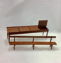 Shaker 4-Seat School Desk and Bench