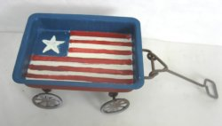 Folk Art Painted Flag Wagon