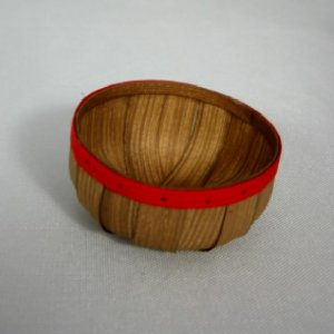 Vegetable Basket with Red Rim