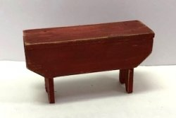 Rustic 5-Board Bench, Red