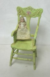 Doll on Hand Painted Chair