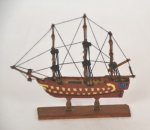 "Model Ship, ""The Spartiate"", signed, with certificate"