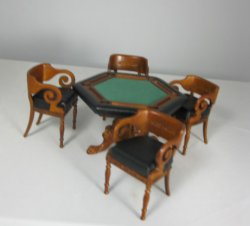 Grande Casino Poker Table and Four Chairs