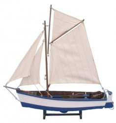 Wooden Model Yarmouth Cutter Sailboat, 17""