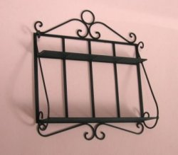 Black 2-Shelf Wall Rack