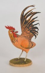 Carved and Painted Rooster by Frank Balestrieri