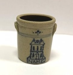 Stoneware NAME Crock