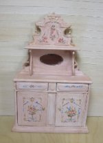 Shabby Pink Buffet with Floral Design