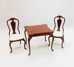 Game Table or small Dining Table with Two Chairs