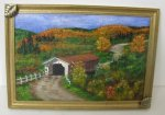 """Vermont Covered Bridge in Fall"" by Bonnie M. Allchik"
