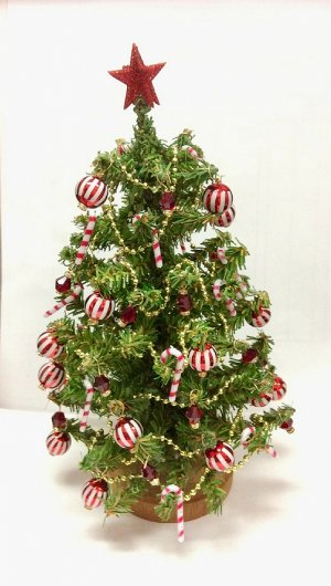 Candy Cane Stripe Christmas Tree