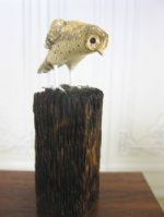 Carved and Painted Owl on a post by Frank Balestrieri