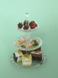 3-Tier Glass Pastry Dish