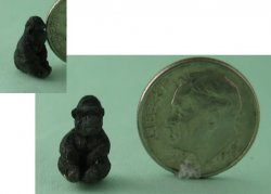 Hand Carved Sitting Gorilla, 1/144 scale