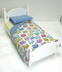 Cat Print Single Bed