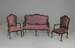 Palais Settee and Two Chairs