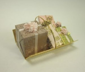 Assortment of Gift Boxes in Brass Carrier