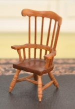 "1/2"" Scale Windsor Chair signed ""RC"""