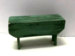 Rustic 5-Board Bench, Green