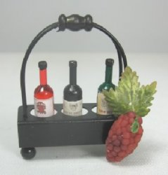 Wine Carrier with Three Bottles