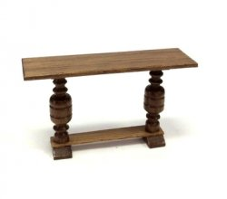 "1/2"" Scale Hall or Library Table, Walnut"