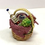 White Wine and Cheese Gift Basket