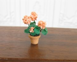 "1/2"" Scale Pink Geraniums"