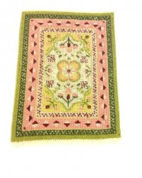Needlepoint Rug, Mainly Pink & Green