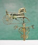Brass Trotter Weather Vane