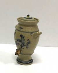 Stoneware Rooster Water Fountain with Spigot