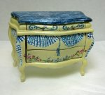 Painted Bombe Chest with Bunting Motif