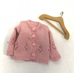 Pink Cardigan Sweater with Hanger