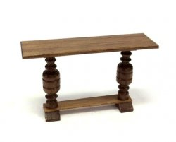 "1/2"" Scale Hall or Library Table, Mahogany"