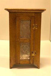 Jelly Cupboard with Pierced Tin Doors